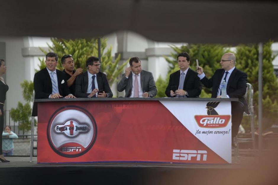 """El programa """"Fuera de Juego"""" de ESPN se grabó en Guatemala. (Foto: Wilder López/Soy502)"""