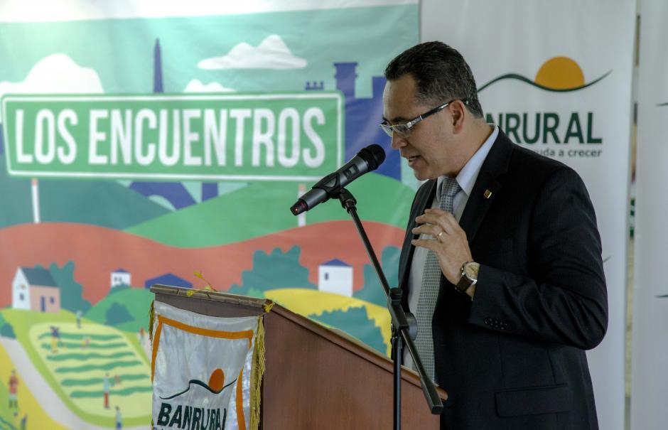 """""""Banrural cree en los guatemaltecos por eso se une al proyecto y hace la convocatoria a cualquier parte del país"""", expresó Luis Fernando Marroquín, gerente administrativo Banrural. (Foto: Víctor Xiloj/Soy502)"""