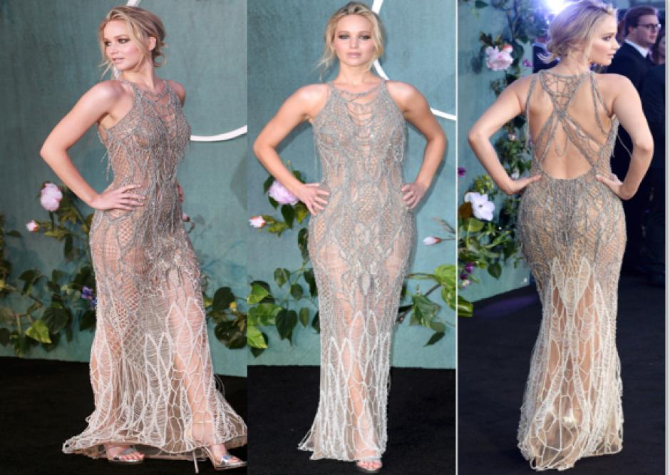 El sexy vestido de Jennifer Lawrence que enamoró a miles en Londres. (Foto: Twitter)