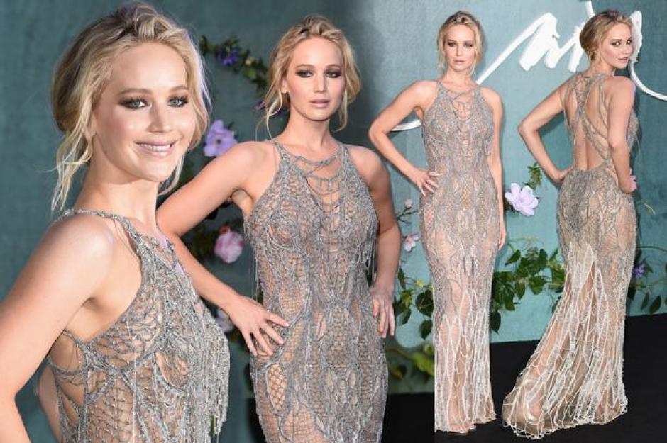La bella Jennifer Lawrence brilla con su look en la premier de Mother! (Foto: Twitter)