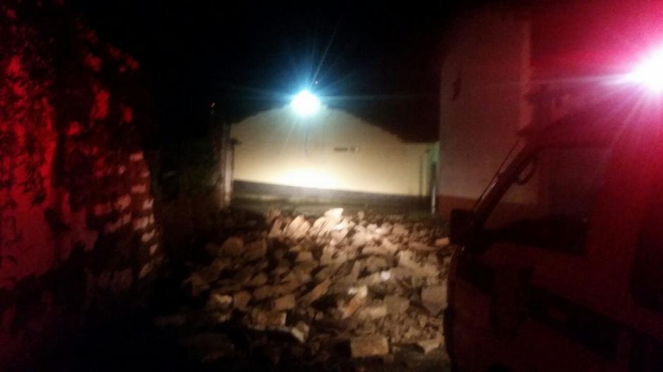 Viviendas dañadas en el departamento de Quetzaltenango. (Foto: Bomberos Municipales Departamentales)