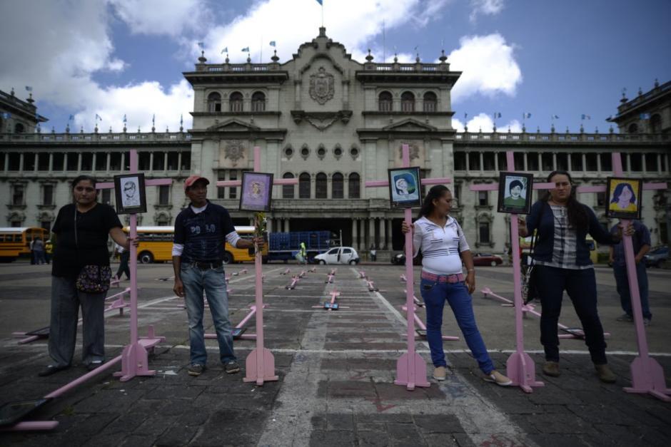 El colectivo 8 Tijax fue quien colocó la muestra. (Foto: Wilder López/Soy502)