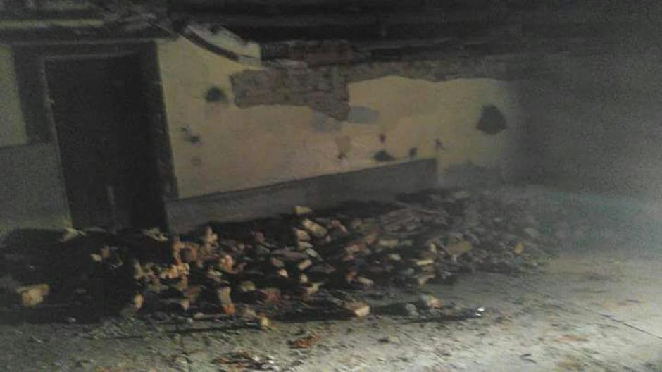 Daños en viviendas de Tacaná, en San Marcos. (Foto: Cruz Roja Guatemalteca)
