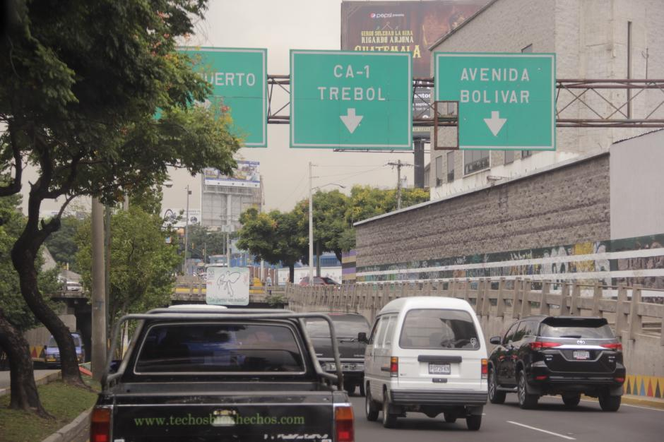 El bulevar Liberación es otro de los puntos de mayor impacto hacia el occidente. (Foto: Fredy Hernández/Soy502)