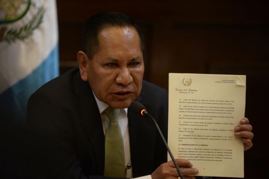 El informe de la comisión fue elaborado durante una sesión privada en la oficina del diputado Julio Ixcamey. (Foto: Wilder López/Soy502)