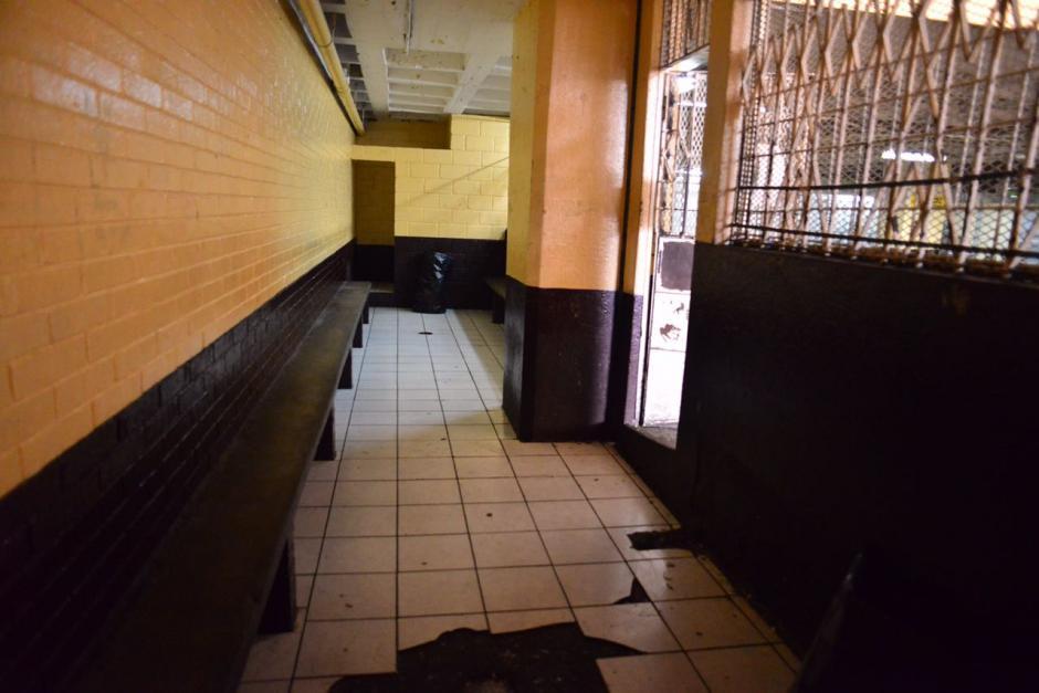 Las carceletas de la Torre de Tribunales lucen vacías este lunes 11 de septiembre. Presidios no trasladó a privados de libertad. (Foto: Jesús Alfonso/Soy502).