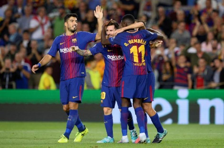 Lionel Messi marcó doblete para el triunfo del Barsa 3-0 a la Juve. (Foto: AFP)