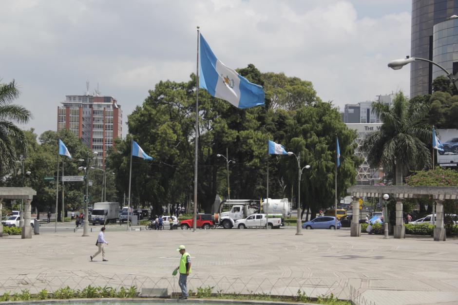 El Obelisco es el epicentro de las antorchas en la ciudad. (Foto: Fredy Hernández/Soy502)