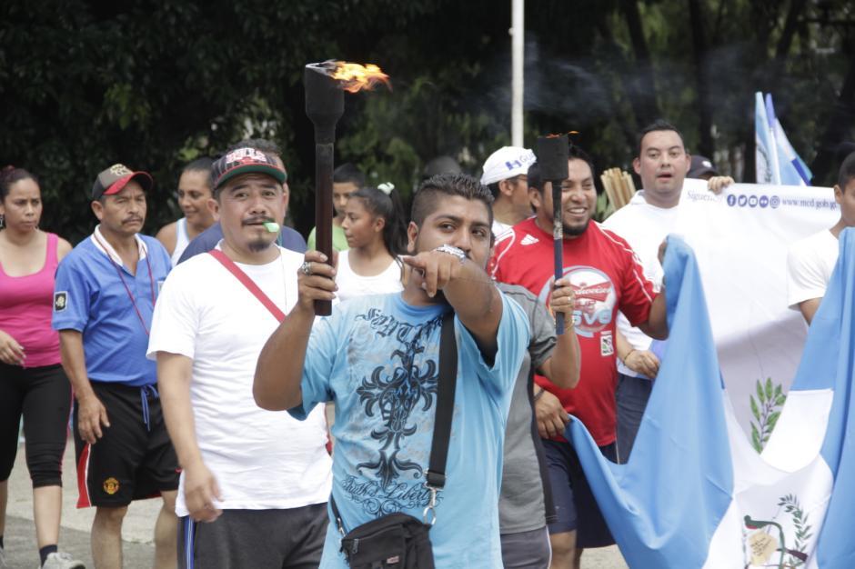 El recorrido de la antorcha de independencia tiene sus orígenes en 1821. (Foto: Fredy Hernández/Soy502)