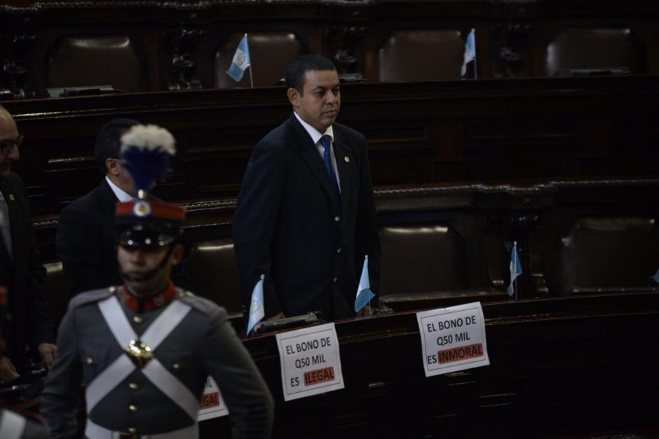 Los diputados de Encuentro por Guatemala protestaron contra Jimmy Morales. (Foto: Wilder López/Soy502)