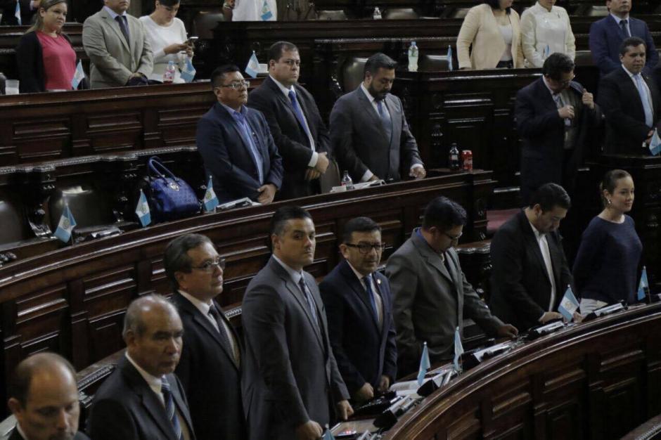 Diputados de la bancada oficial durante la sesión. (Foto: Alejandro Balán/Soy502)