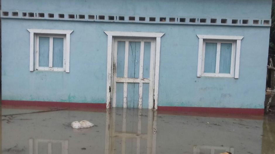 También se reportan inundaciones en el departamento de Petén. (Foto: Conred)