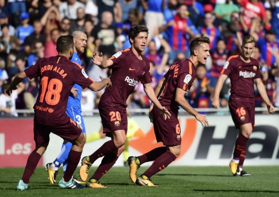 El Barcelona mantiene el paso firme en la Liga. (Foto: AFP)