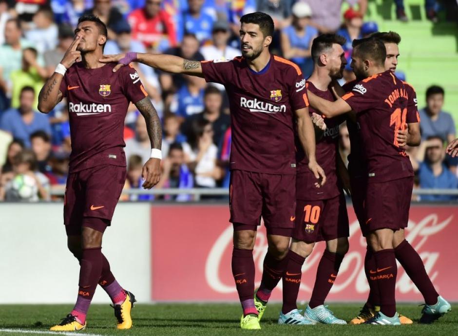 El brasileño necesitó solo 7 minutos para anotar su primer gol en la Liga con el Barcelona. (Foto: AFP)
