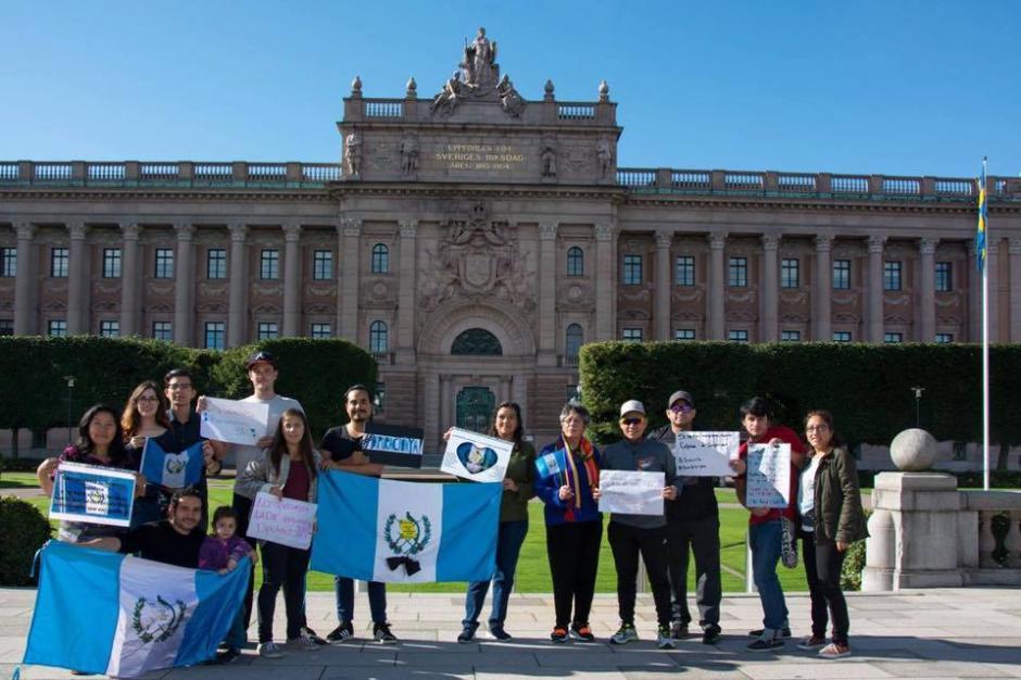 Otro grupo externó su resistencia desde Suecia. (Foto: Yesi Ortega)