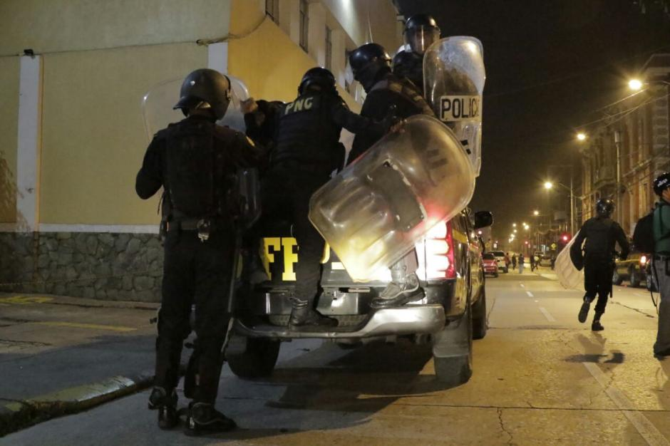 Los manifestantes indicaron que volverán al Congreso a protestar. (Foto: Alejandro Balan/Soy502)