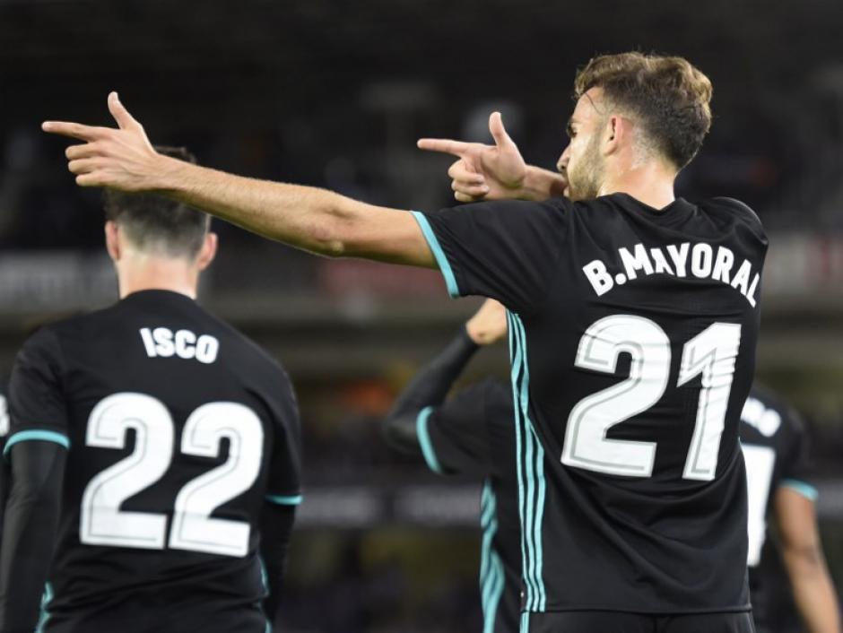 Borja Mayoral tuvo una gran actuación como titular en el Real Madrid. (Foto: AFP)