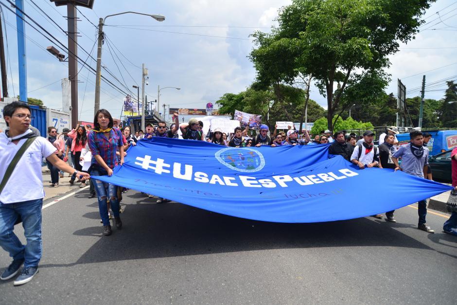 La marcha de la Usac saldrá a las 9 de la mañana. (Foto: Archivo/Soy502)