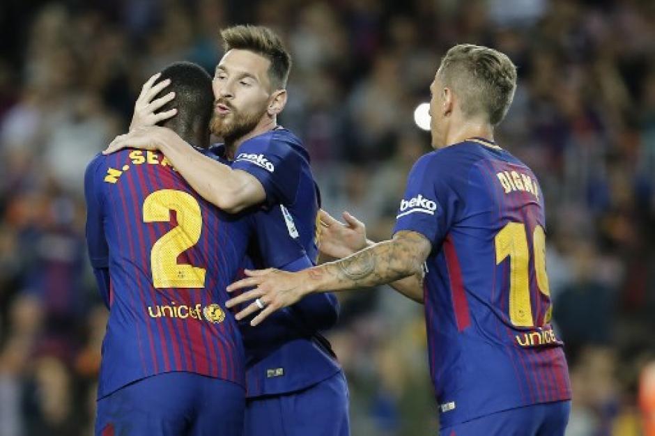 Messi marcó cuatro de los seis goles del Barcelona. (Foto: AFP)