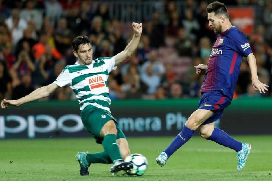 Messi lució imparable frente al Eibar. (Foto: AFP)
