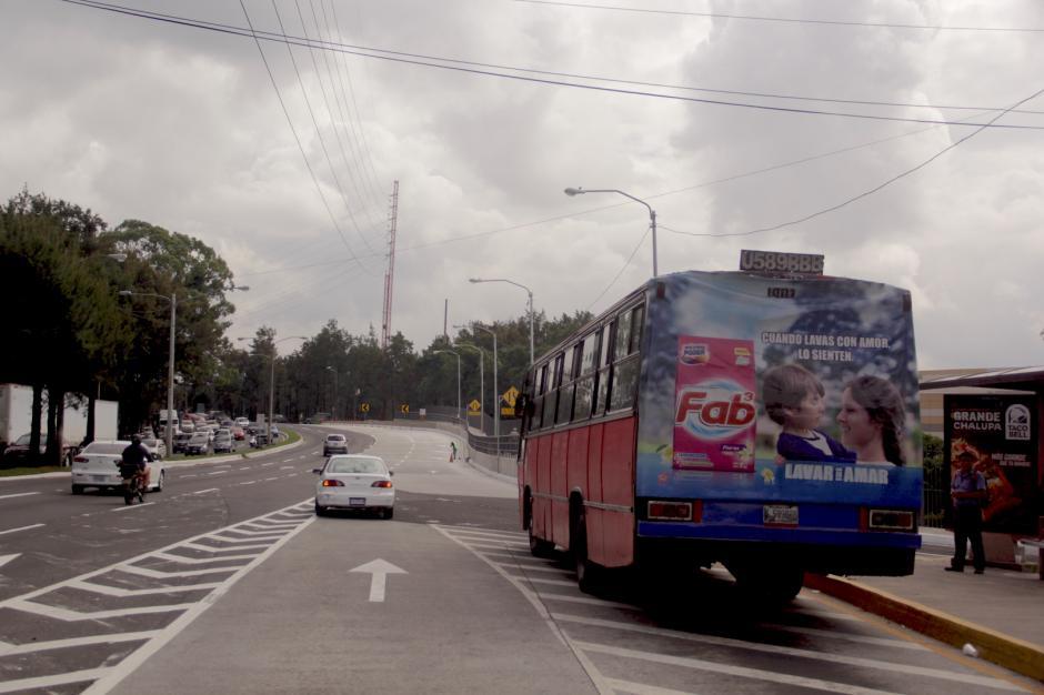 El lugar cuenta con una parada de buses mejor ubicada. (Foto: Fredy Hernández/Soy502)