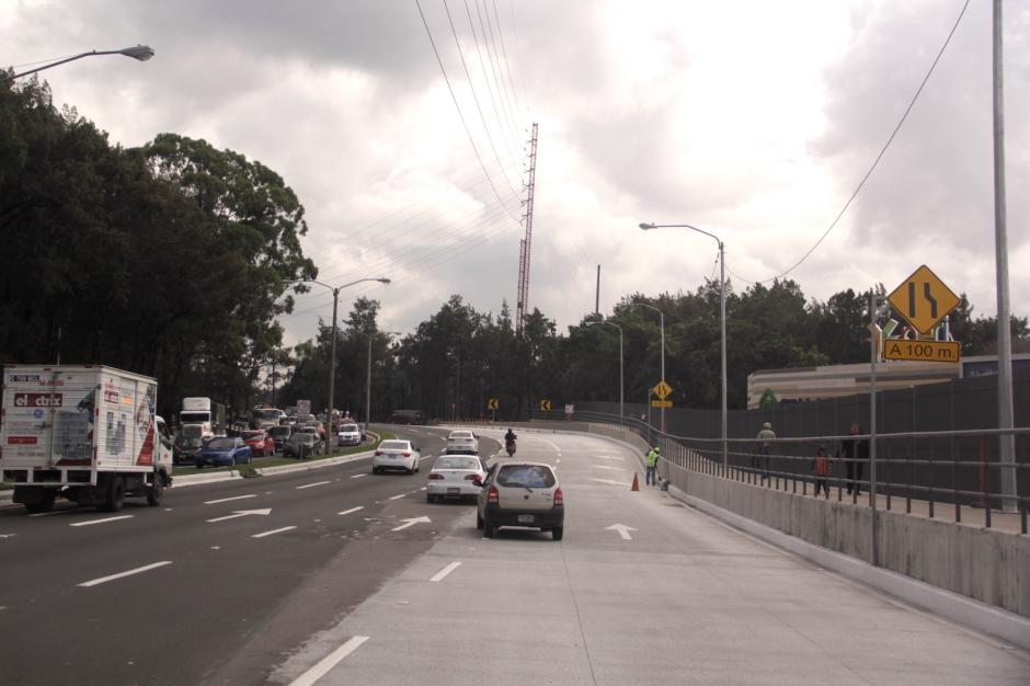 Esta es la segunda fase del proyecto que busca mejorar la afluencia vehicular. (Foto: Fredy Hernández/Soy502)