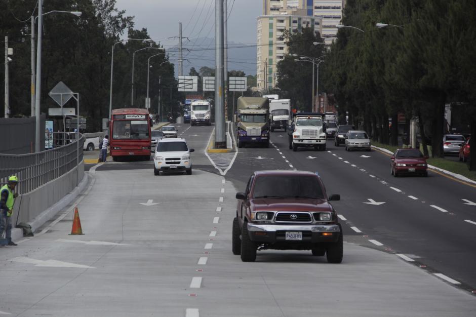 Los conductores que ingresan de la calzada Roosevelt hacia el Periférico tienen una mejor manera de hacerlo. (Foto: Fredy Hernández/Soy502)