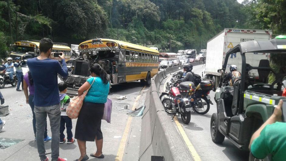 Otro accidente de tránsito se reportó esta mañana. (Foto: PMT Villa Nueva)