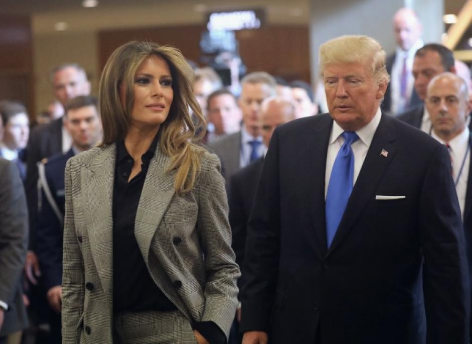 Melania Trump participa junto a su esposo en la ONU. (Foto: AFP)