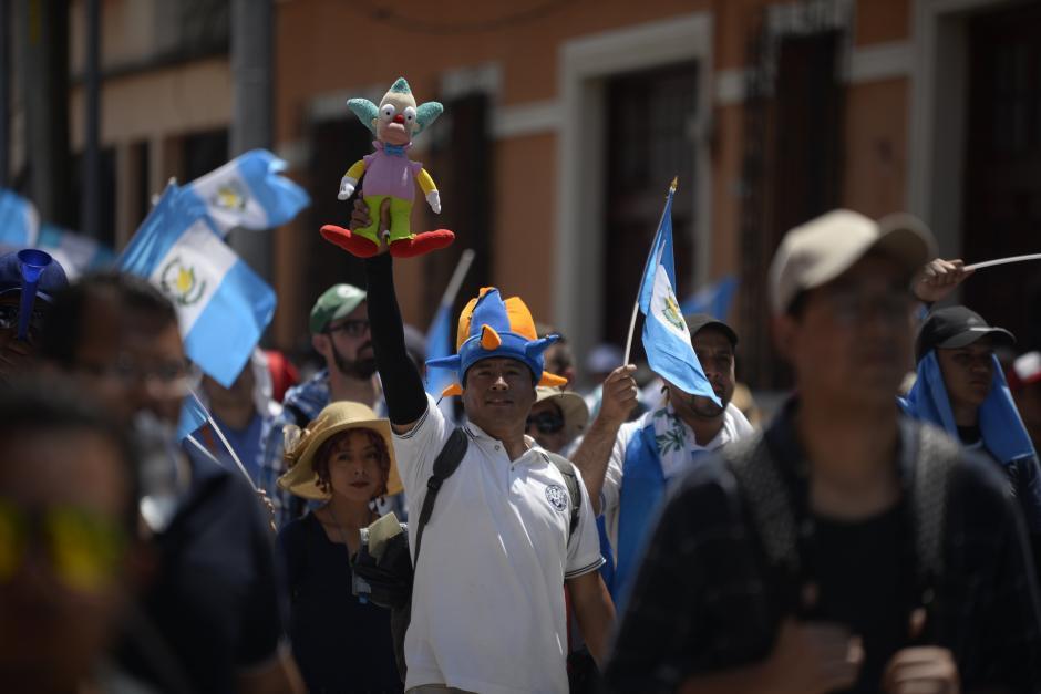 Los manifestantes caminaron durante horas para llegar al Centro Histórico. (Foto: Wilder López/Soy502)