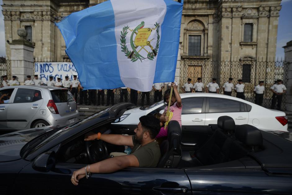 También los más pequeños quisieron participar en la manifestación. (Foto: Wilder López/Soy502)