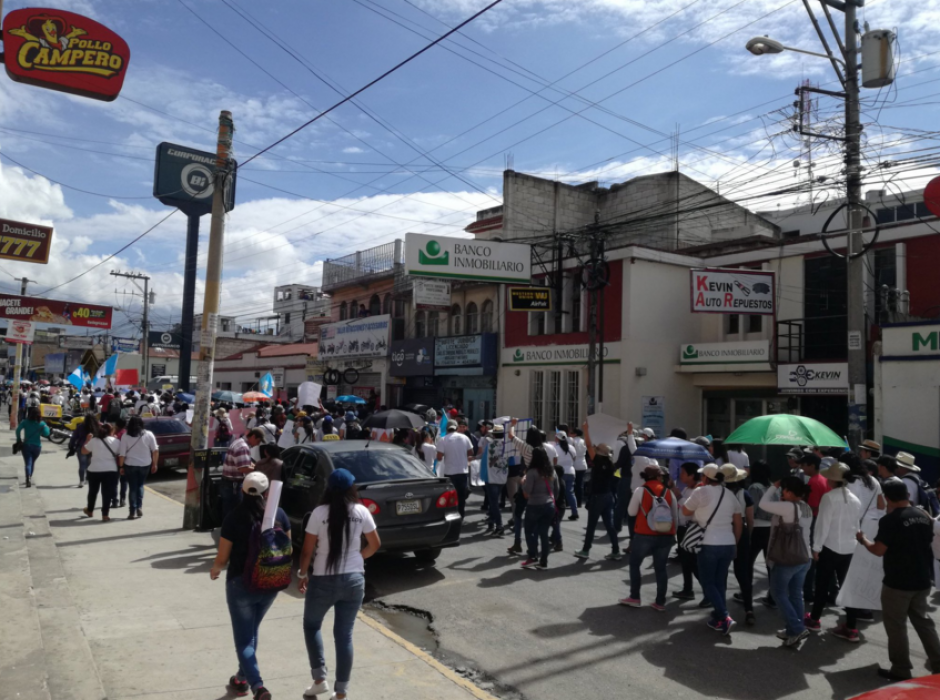 En Huehuetenango se desarrollan movilizaciones. (Foto: Twitter)