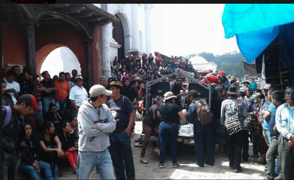 En Chichicastenango se desarrollan protestas. (Foto: Knal 4 Quiché)