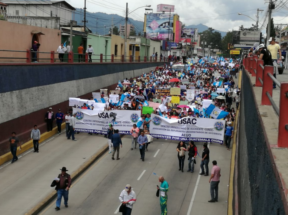 En Quetzaltenango hay movilizaciones. (Foto: Stereo100)