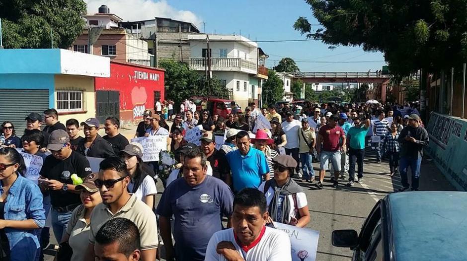 Las protestas también se desarrollan en Chiquimula. (Foto: Usuarios Soy502)
