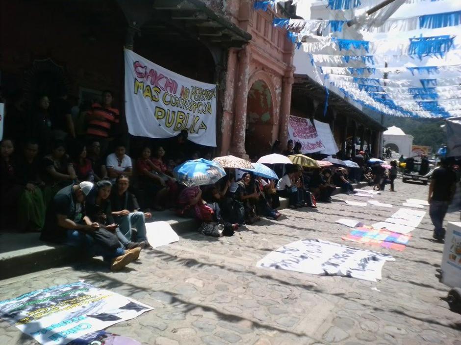 En Chichicastenango también se registraron protestas pacíficas. (Foto: Enrique Marth)