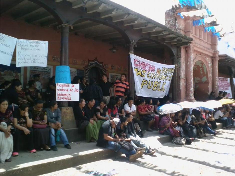 Los inconformes manifestaron su descontento con el gobierno actual. (Foto: Enrique Marth)