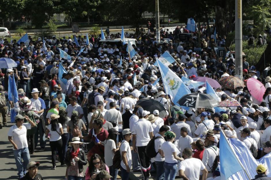 Se prevé que se encuentren con estudiantes de la Universidad Landívar. (Foto: Alejandro Balán/Soy502)
