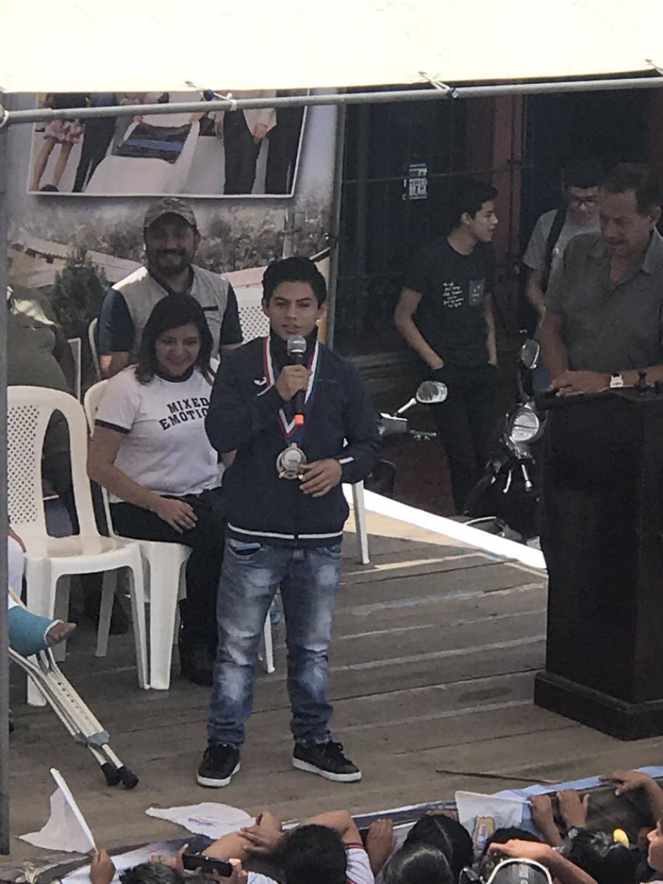 Vega agradeció por el recibimiento en Jocotenango. (Foto: JC Velásquez)