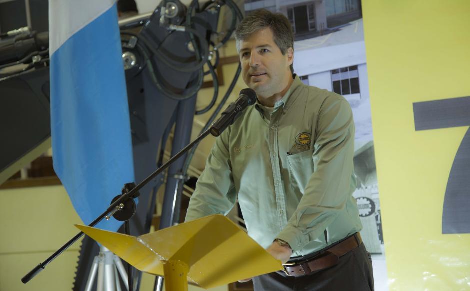"""""""Coguma sigue innovando de una forma responsable y sostenible; el trabajo se ha logrado con ética y responsabilidad"""", comentó Patrick Daniels, gerente general. (Foto: Victor Xiloj/Soy502)"""