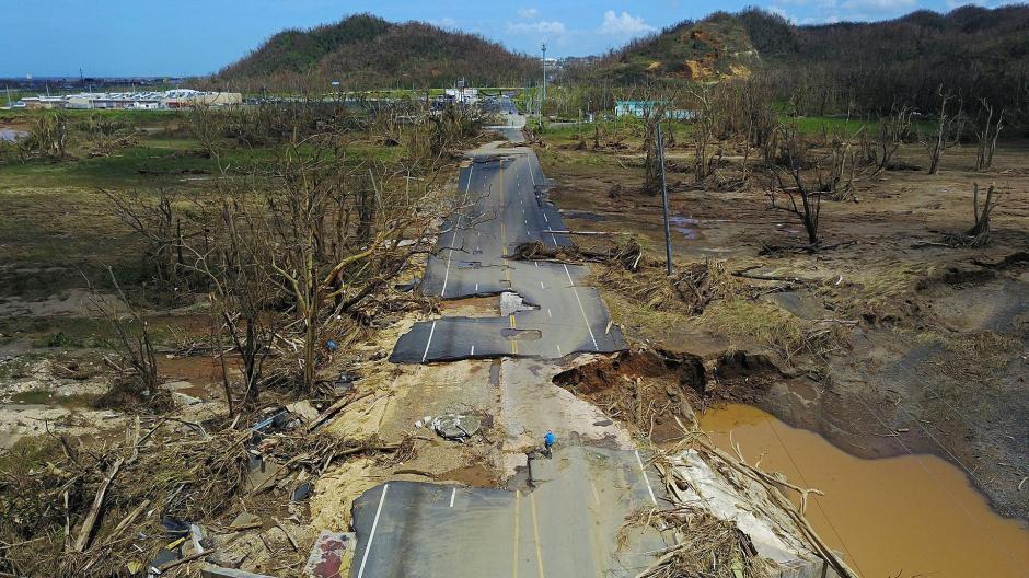 Esta es una imagen aérea de Puerto Rico tras el paso del huracán María. (Foto: AFP)