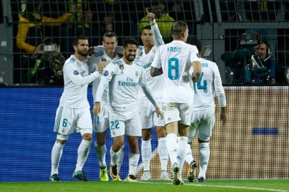 El Real Madrid dominó en Dortmund. (Foto: AFP)