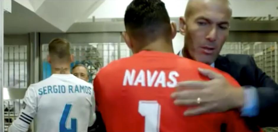 """En la película """"Hombre de Fe"""" aparecen Zidane y otras figuras del Real Madrid. (Foto: captura de video)"""