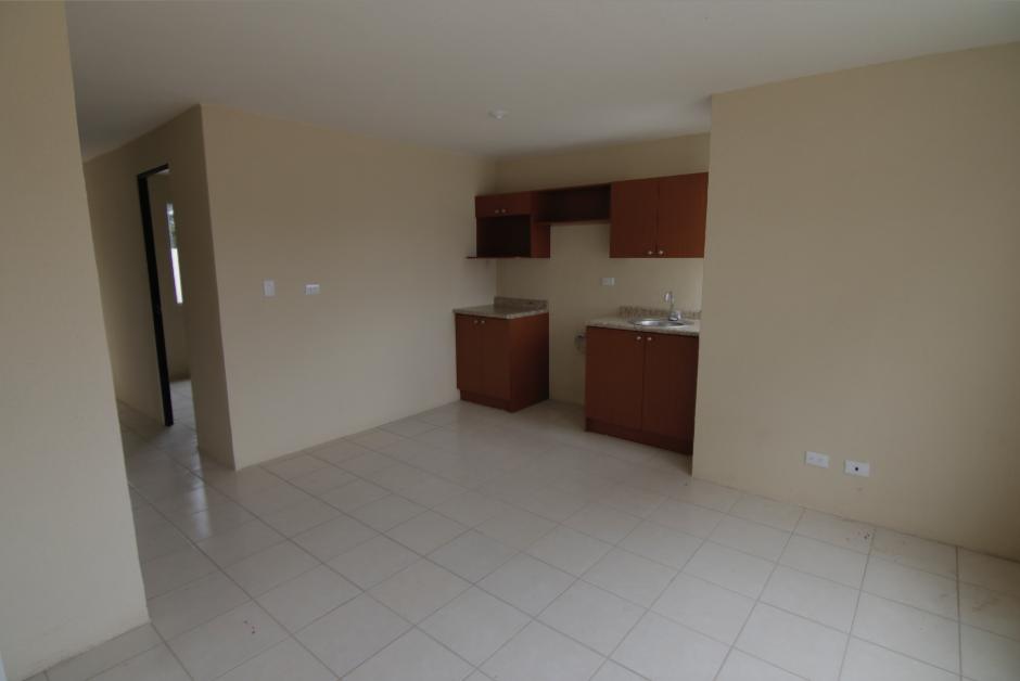 Las casas terminadas, cuentan con armarios y algunos muebles de cocina. (Foto: Alejandro Balán/Soy502)