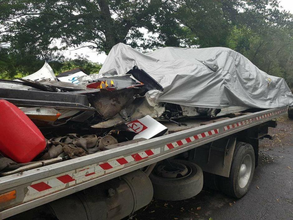 Así quedó el Porche 911 de Diego Cuestas. (Foto: HA El Salvador)