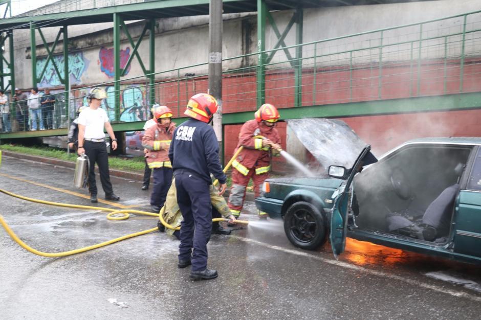 Las pérdidas ascienden a más de 8 mil quetzales, según informó el propietario. (Foto: Bomberos Municipales)