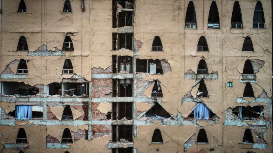 Los edificios dañados han sido deshabitados. (Foto: Santiago Arau)