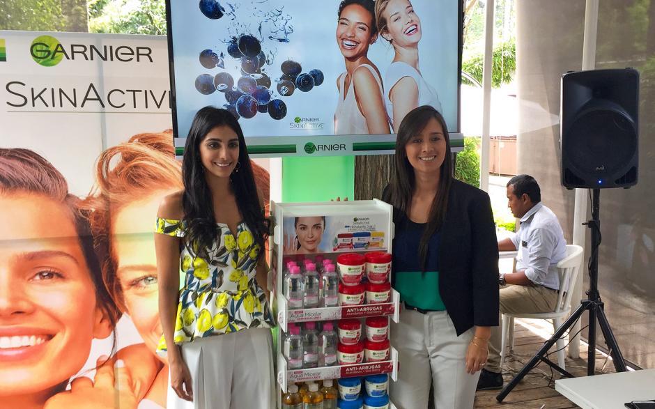 Representantes de L´Oréal Guatemala y la marca Garniere presentaron productos para el cuidado de la piel.  (Foto: Soy502)