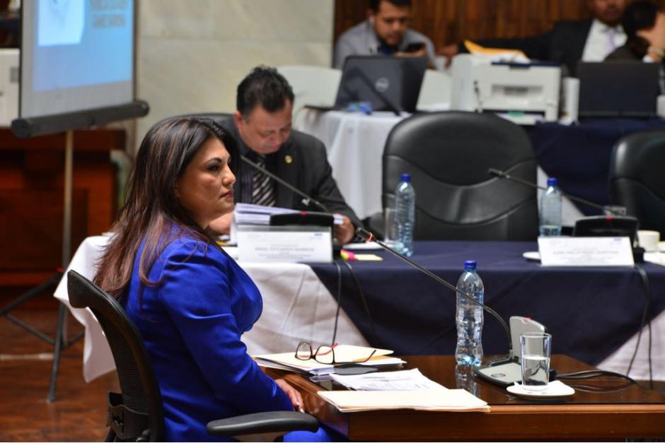 Patricia Elizabeth Gámez fue la última candidata en exponer su plan de trabajo.  (Foto: Jesús Alfonso/Soy502)