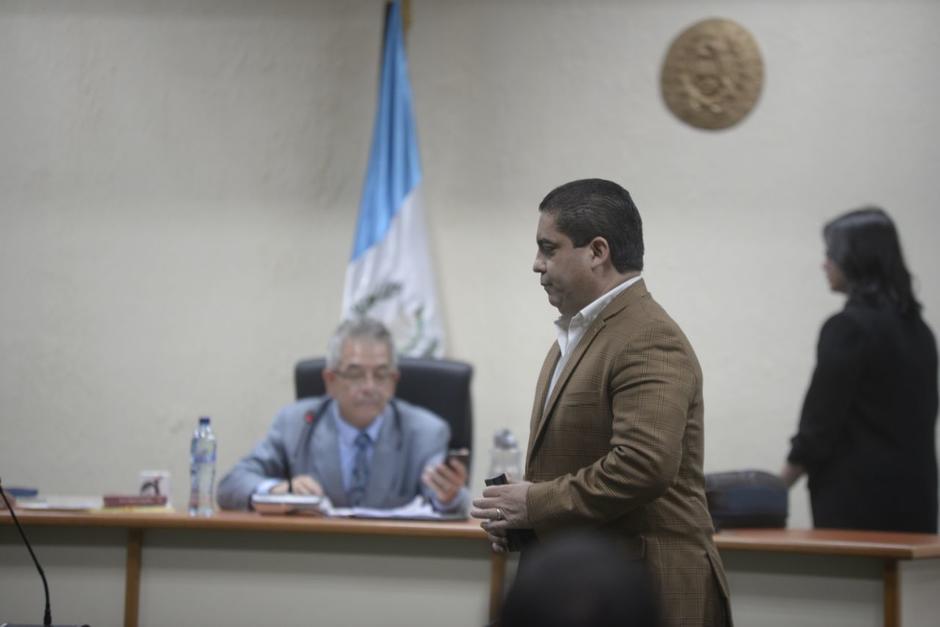 Juan Carlos Monzón no declaró este lunes 9 de abril debido a que la audiencia se suspendió. (Foto: Wilder López/Soy502)